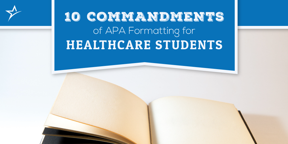 Formatting APA for healthcare