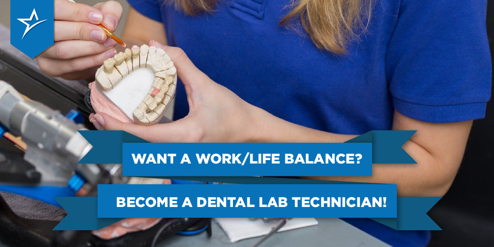 Dental lab tech working