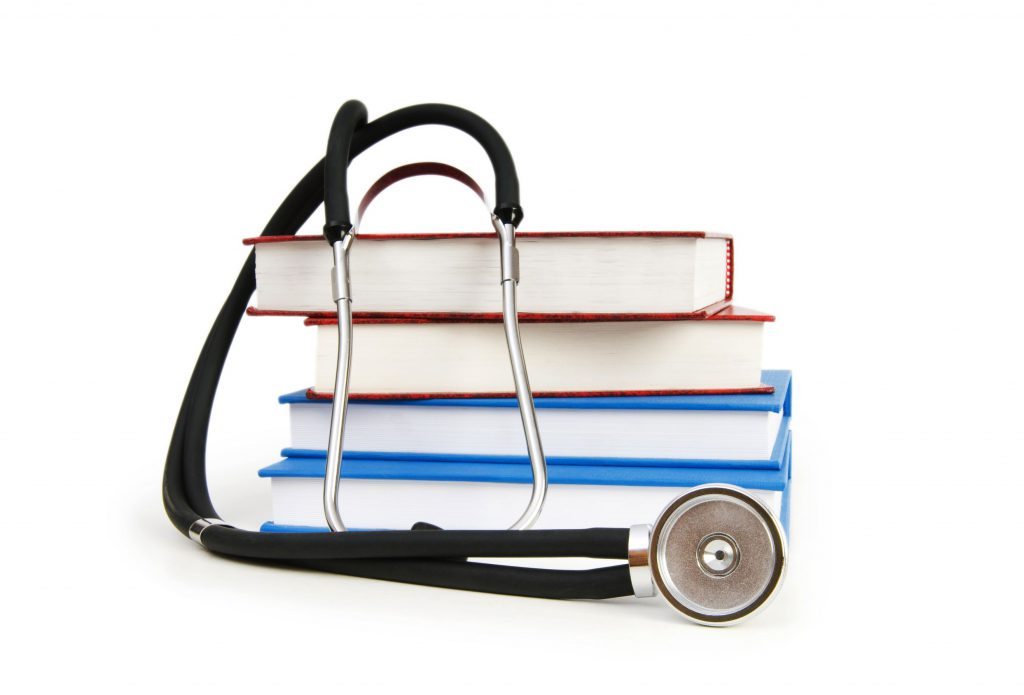 Stethoscope on NCLEX study guides