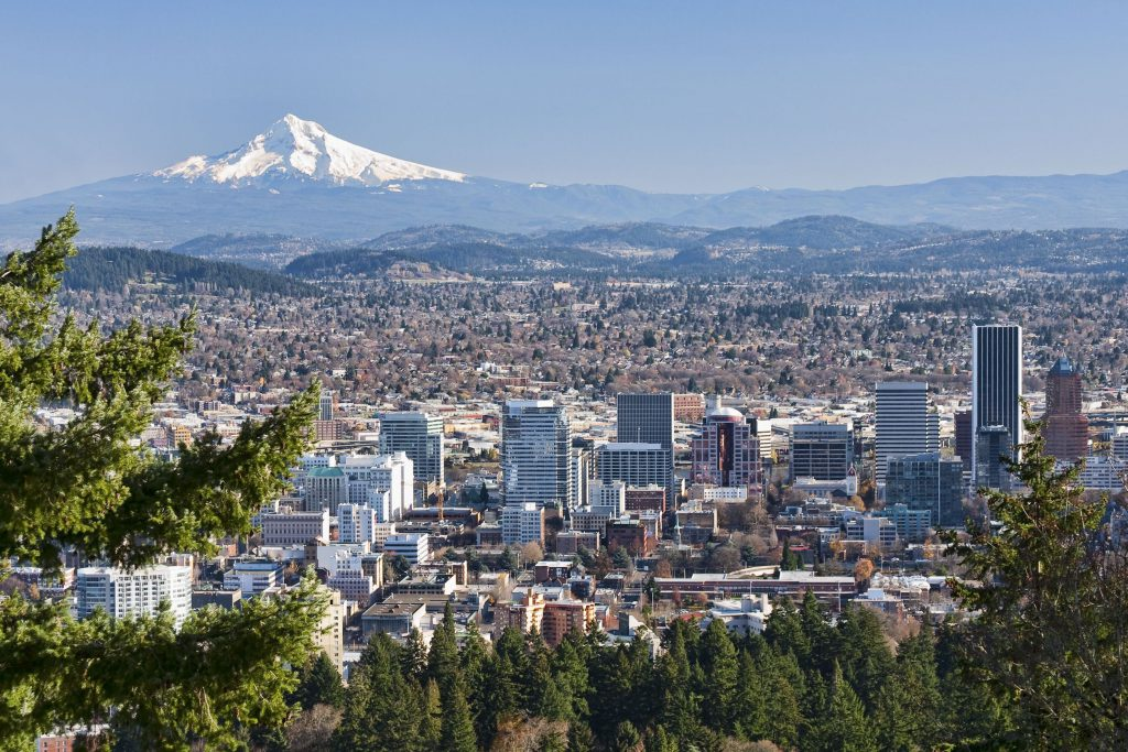 View of Portland Oregon City
