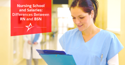 All nurses have to be at least an RN, but those who go the extra mile and become a BSN get higher salaries and reach new heights.