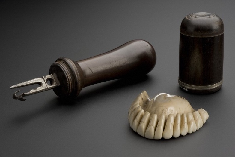 Along with gold, ivory has historically been a popular material for dental prosthetics.