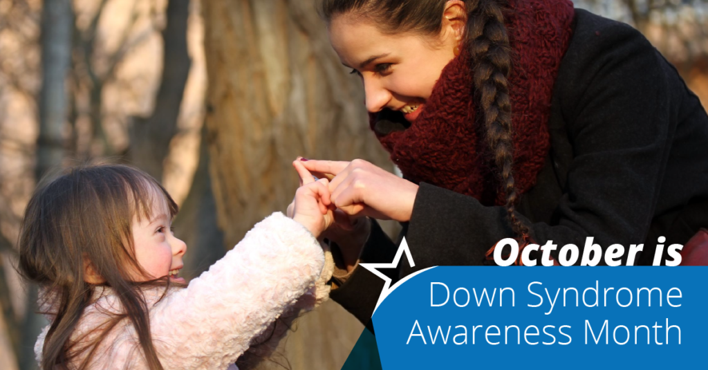 October means paying more attention to Down syndrome, the most common chromosomal condition in the United States.