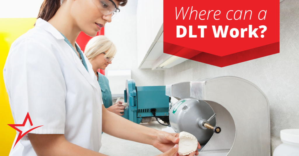Dental laboratory technicians mostly work in labs, but that's not the only place they can do their craft.