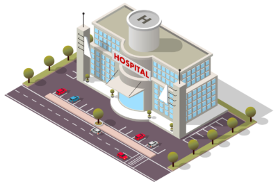 Hospitals have capabilities that other healthcare facilities often don't, such as helicopter landing pads.