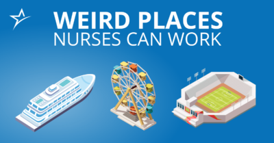 Find out what unusual workplaces you might end up in if you become a nurse.